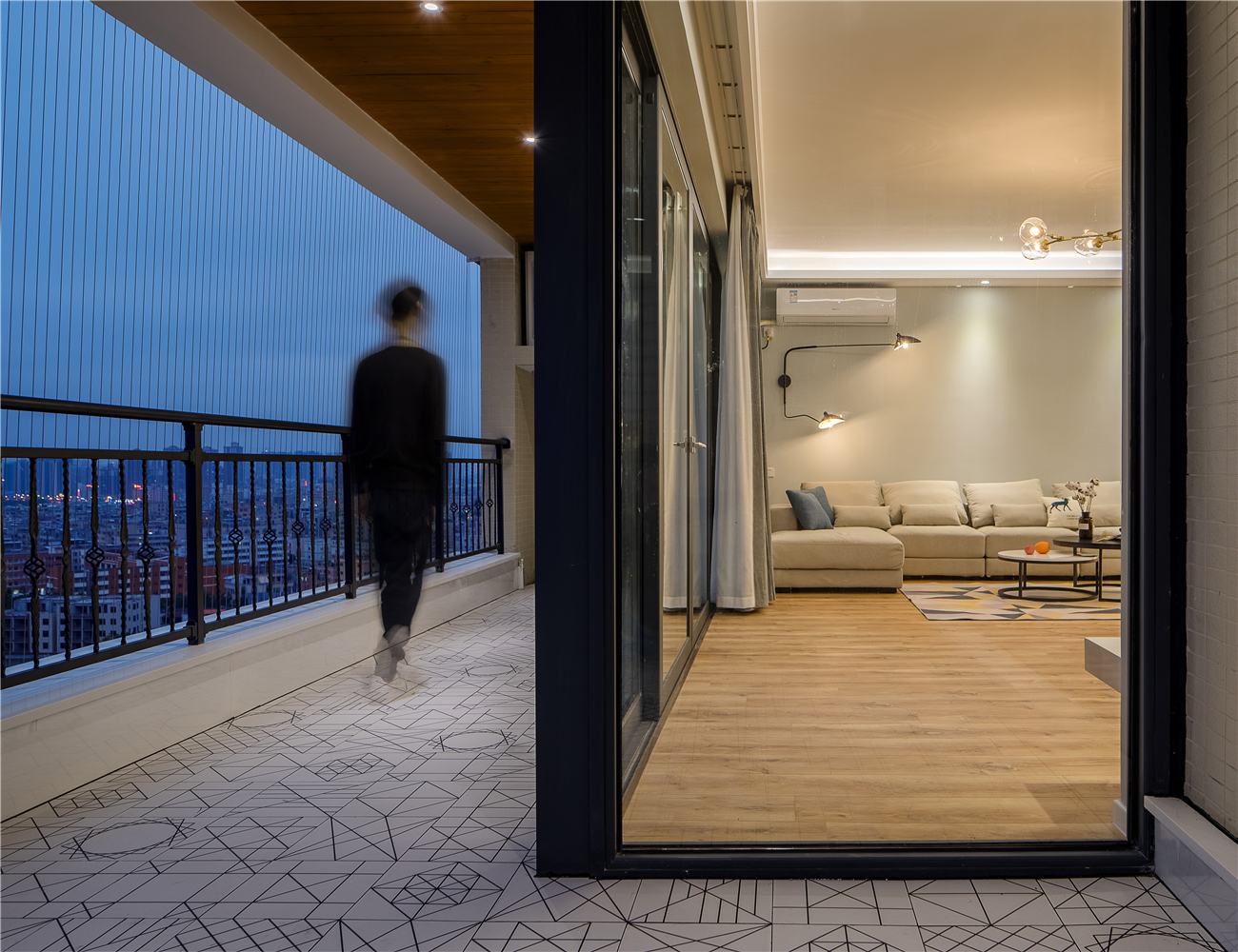 现代北欧风阳台装修效果图