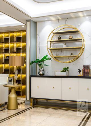 现代中式轻奢三居装修玄关柜设计图