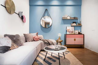 55平米两居室客厅装修效果图