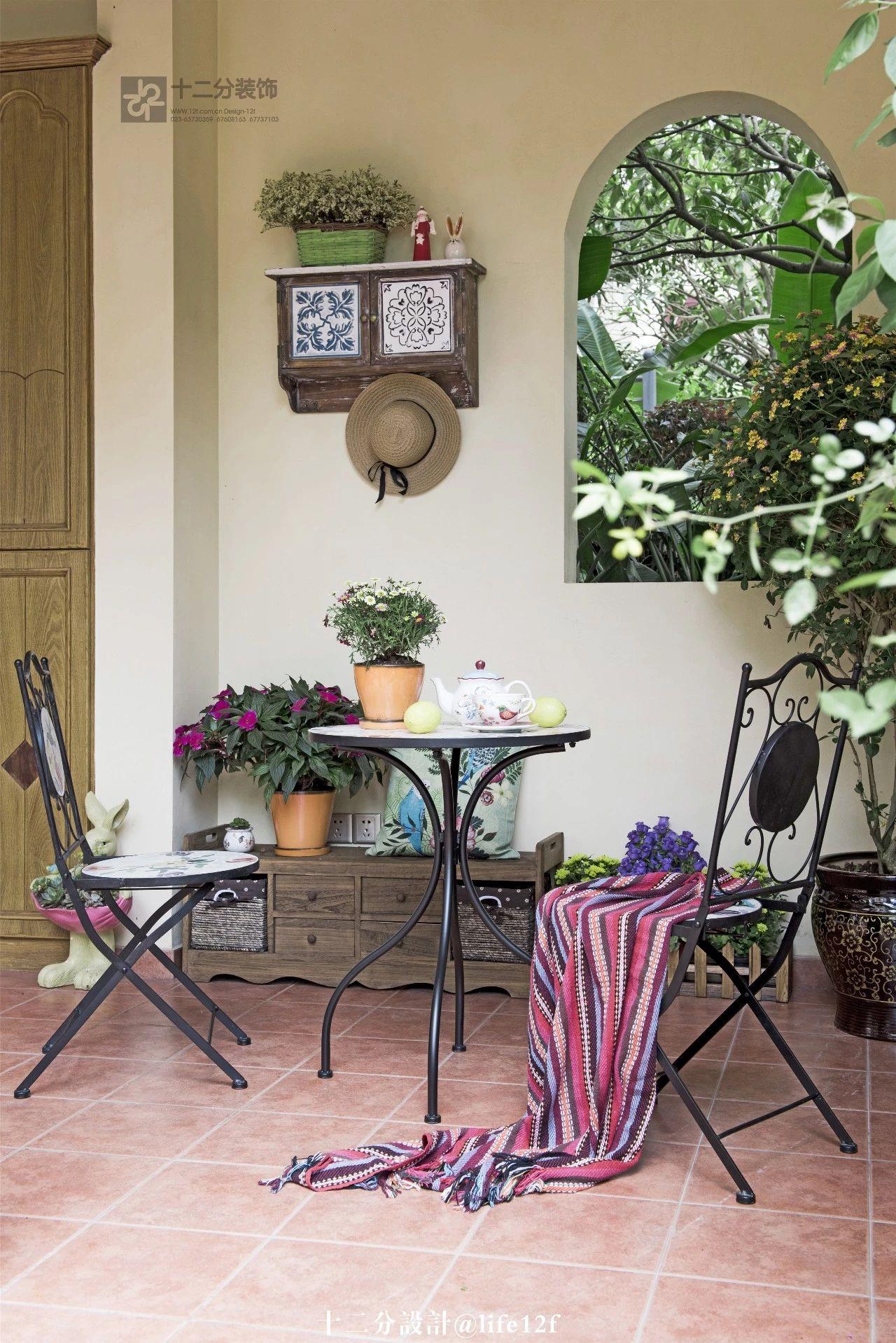 法式乡村风格别墅入户花园装修效果图