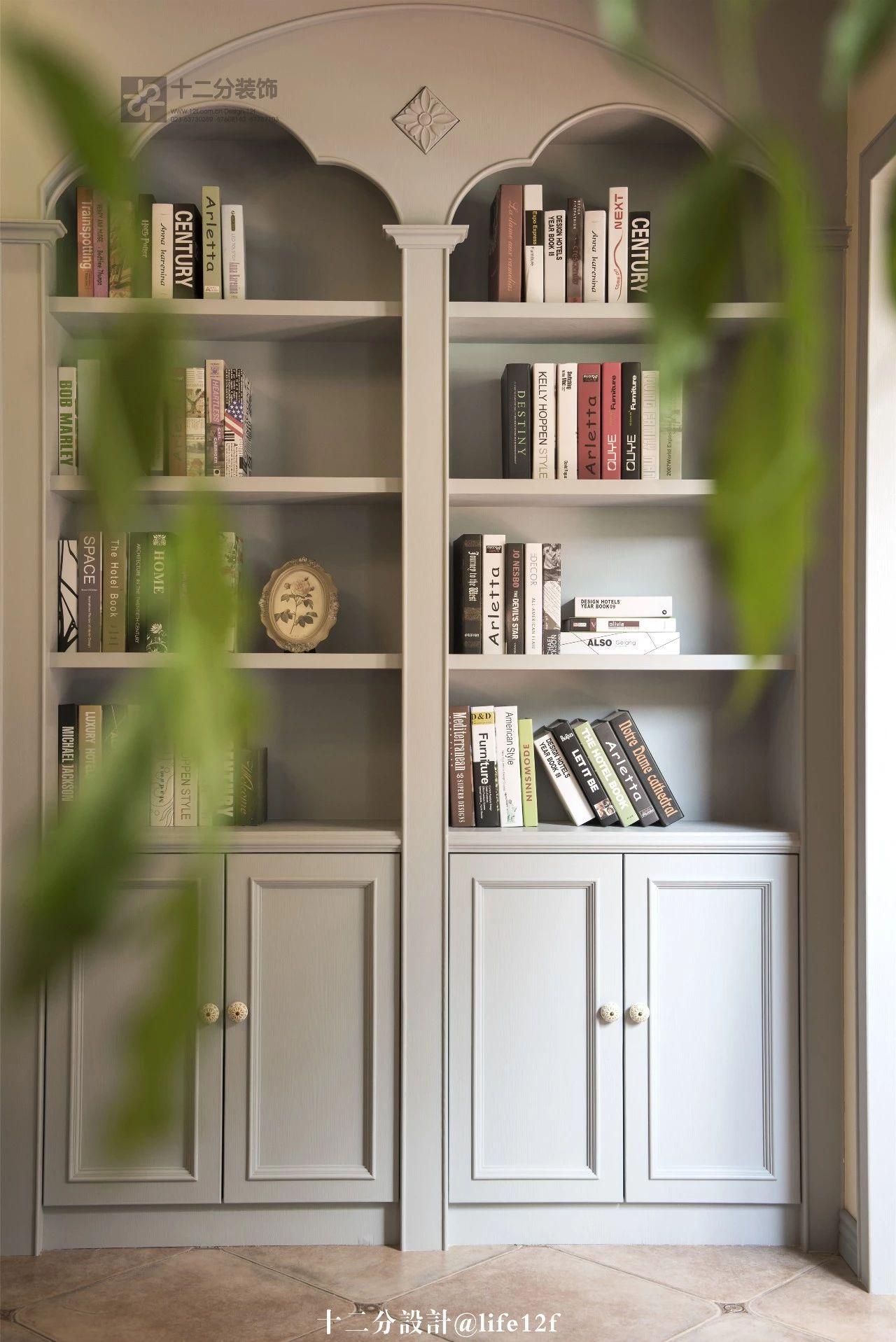 法式乡村风格别墅书柜装修效果图