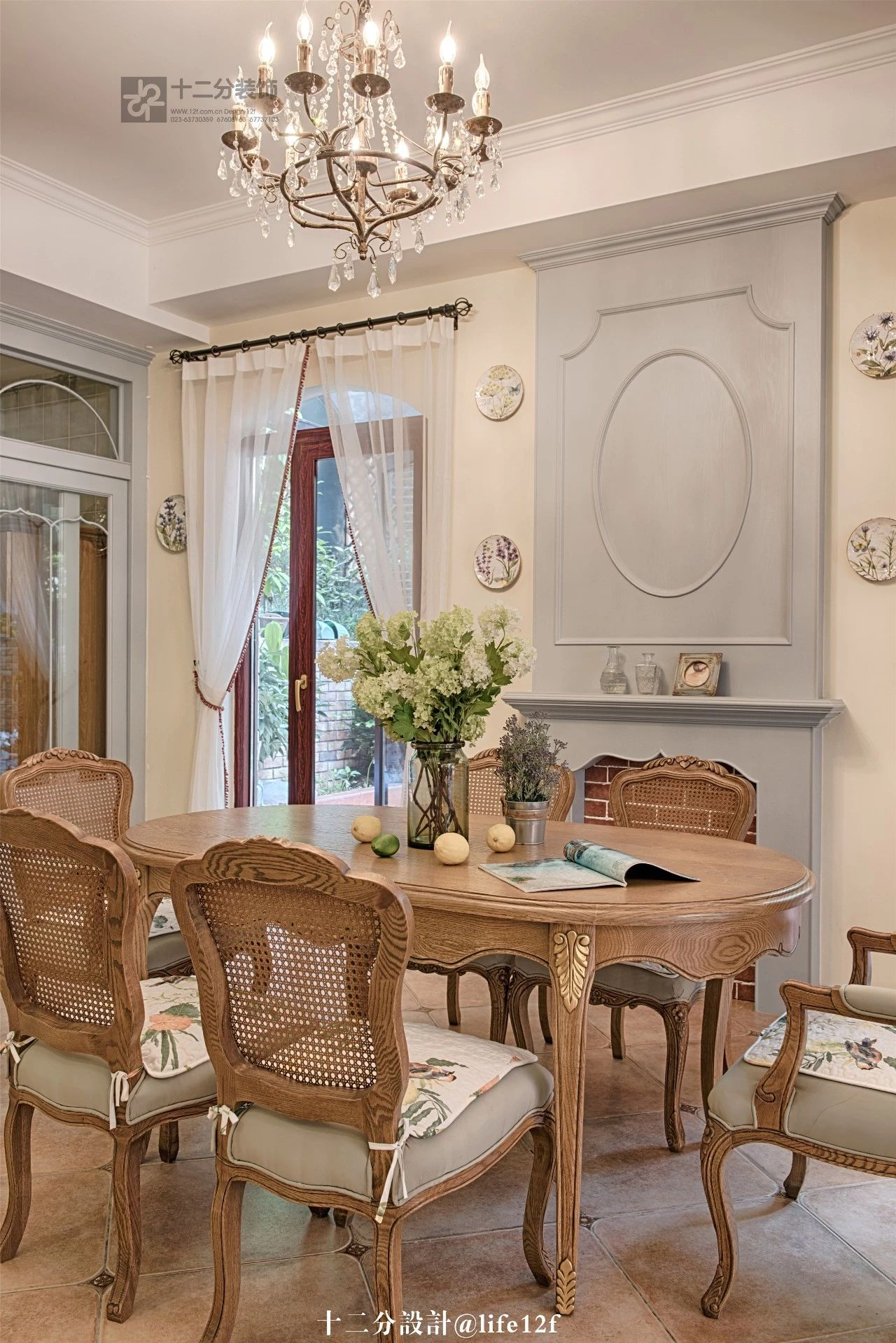 法式乡村风格别墅餐厅装修效果图