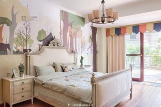 法式乡村风格别墅卧室装修效果图