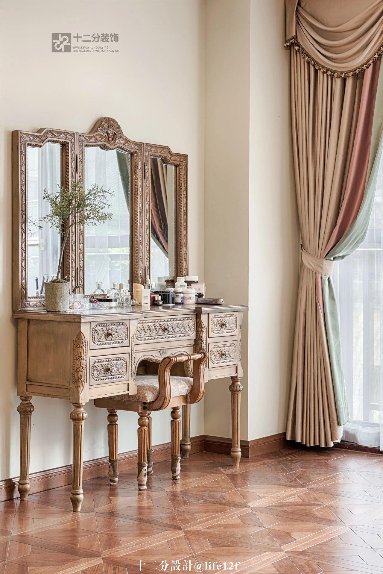 法式乡村风格别墅装修梳妆台设计图