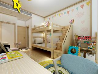 日式原木风儿童房装修效果图