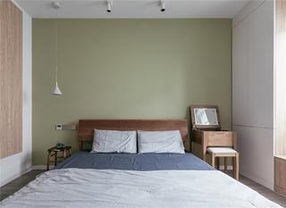 120㎡日式风格卧室背景墙装修效果图