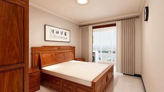 简约中式风格两居卧室装修效果图