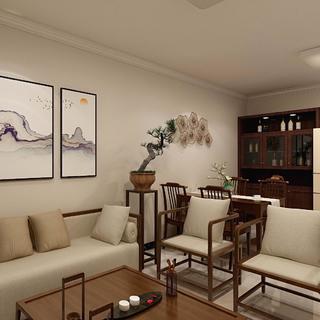 简约中式风格两居装修效果图