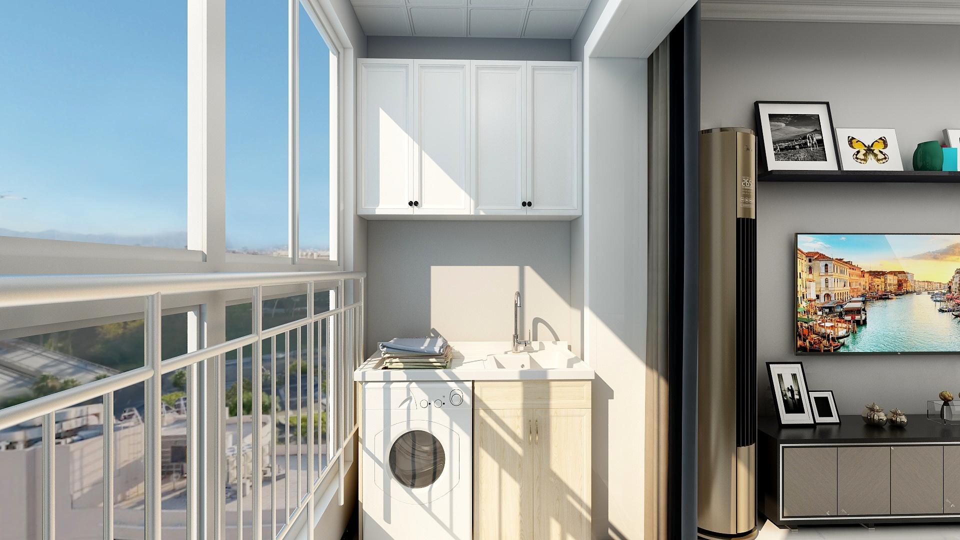 简约风格二居室阳台装修效果图