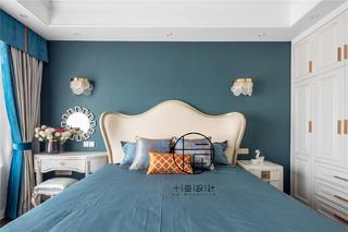 127㎡轻奢风卧室背景墙装修效果图