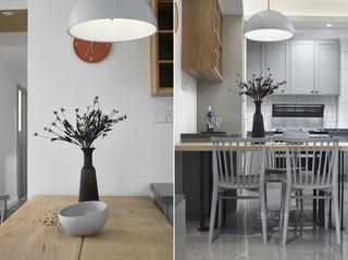 110㎡现代简约风格装修餐桌椅设计图