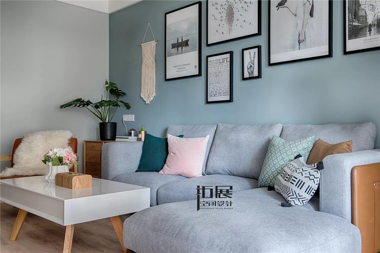 北欧风格两居室装修沙发设计图