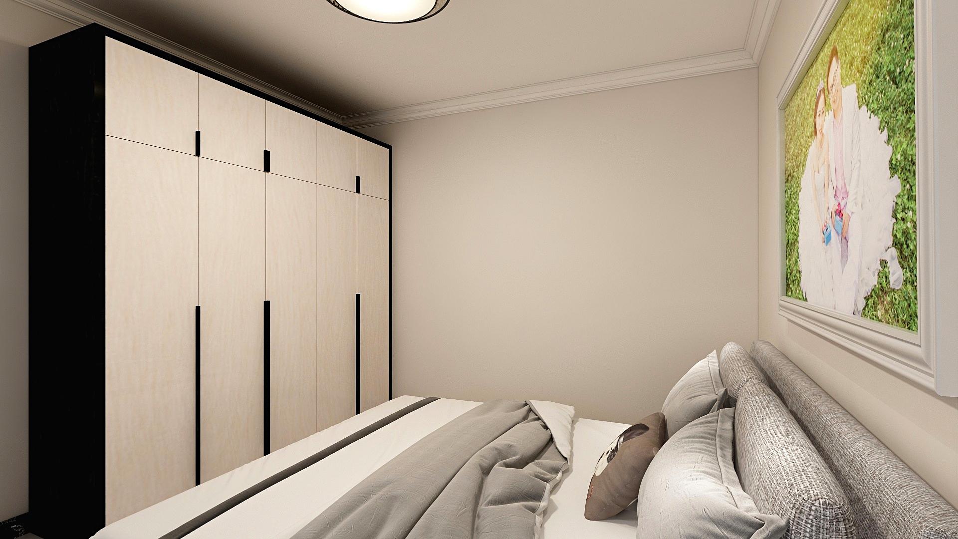 112平米三居卧室装修效果图