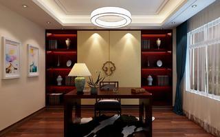130㎡新中式风格书房装修效果图