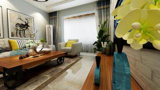 现代简约风三居客厅装修效果图