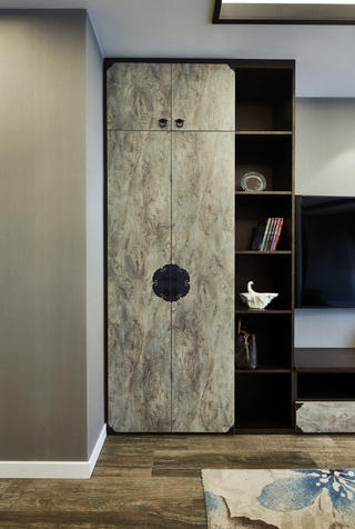 200㎡现代中式装修储物柜设计