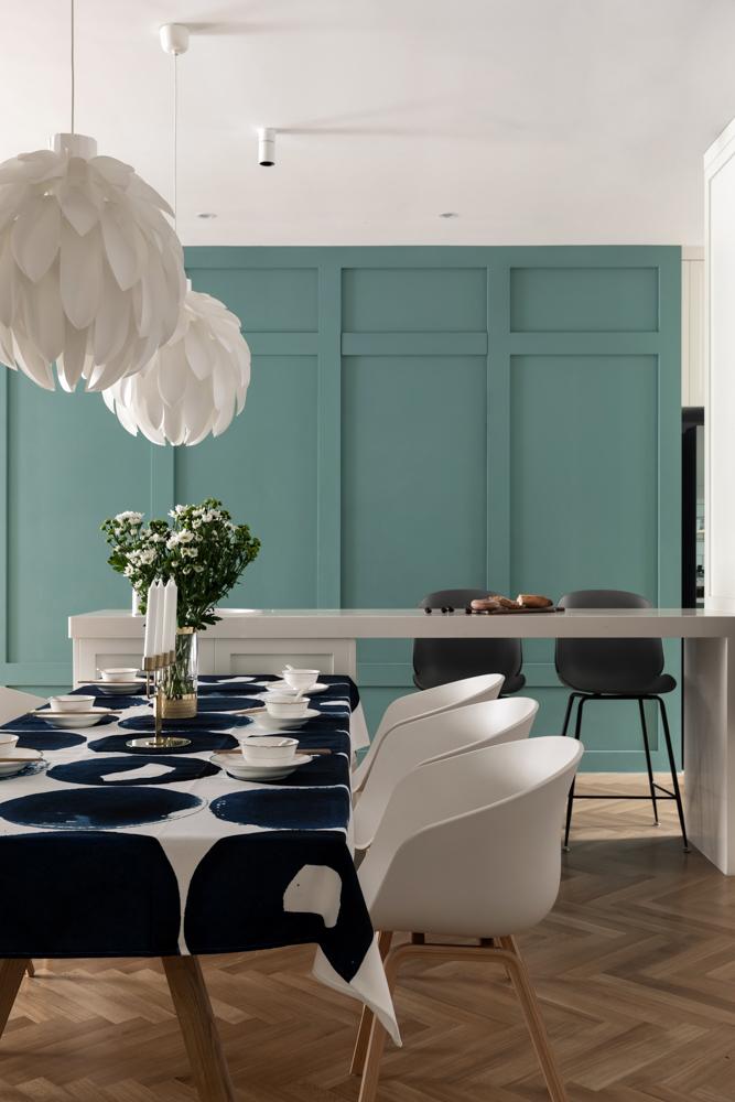 大户型简约现代风装修餐厅吧台设计图