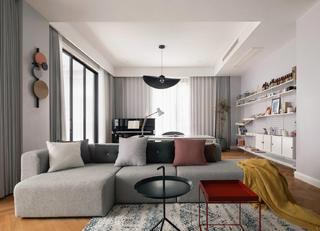 大户型简约现代风装修沙发设计图