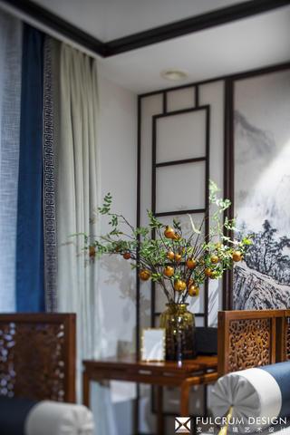 大户型新中式装修客厅小景