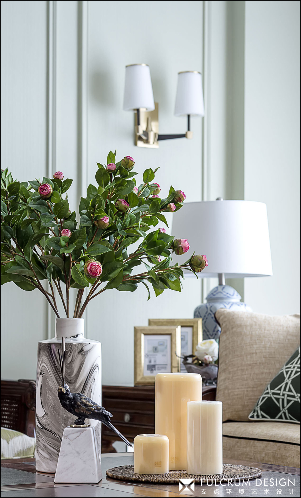 三居室美式风格装修客厅小景