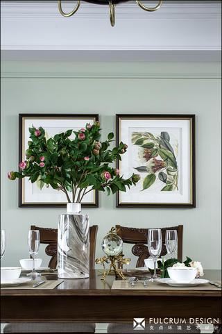 三居室美式风格装修餐厅装饰小景
