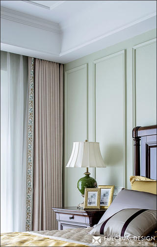 三居室美式风格装修卧室窗帘设计