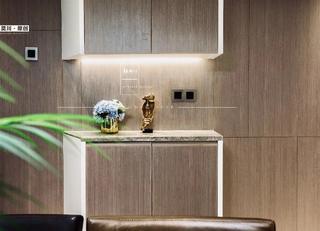 106平现代简约三居装修玄关柜设计图