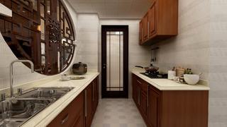 100平中式风格厨房装修效果图