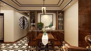 100平中式风格餐厅装修效果图