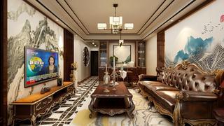 100平中式风格客厅每日首存送20