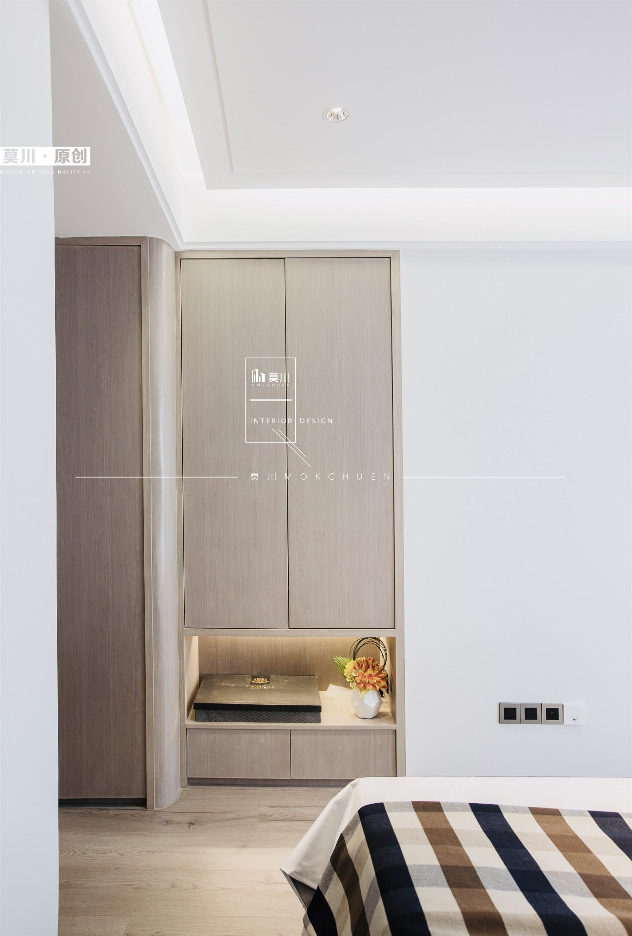 106平现代简约三居装修壁柜设计图