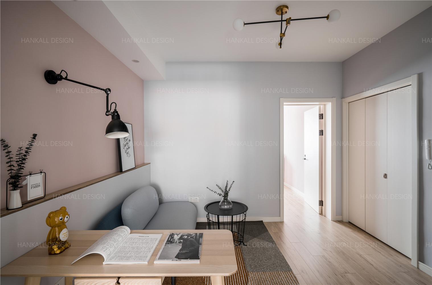 54平米一居室客厅装修效果图