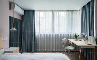 54平米一居室装修卧室窗帘设计图