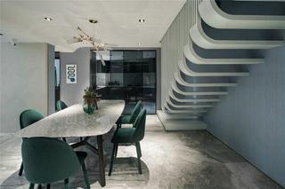 300㎡复式公寓餐厅装修效果图