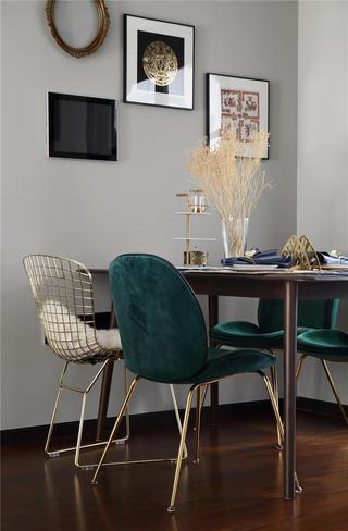 146平轻奢混搭风装修餐桌椅设计图