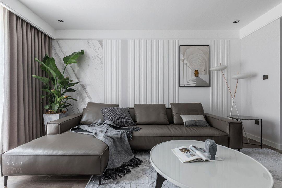 110㎡现代风格沙发背景墙装修效果图