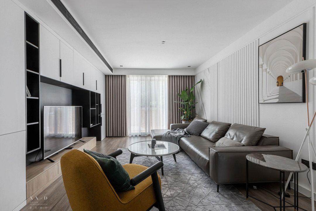 110㎡现代风格客厅装修效果图