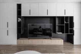 110㎡现代风格电视背景墙装修效果图