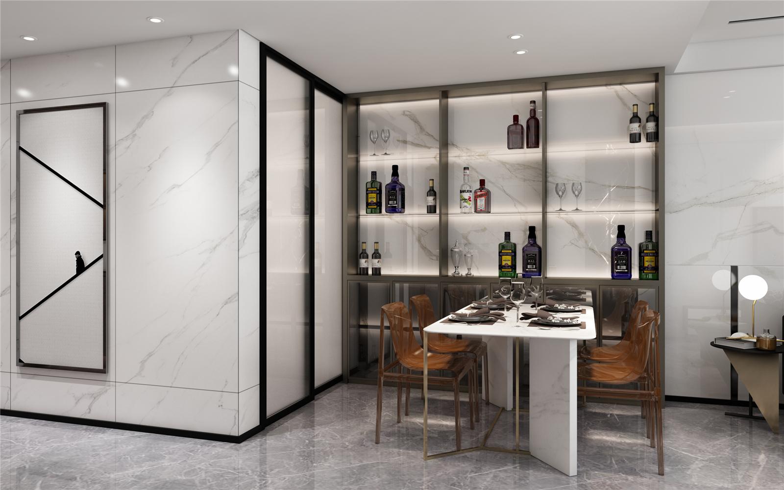 现代简约餐厅装修设计效果图