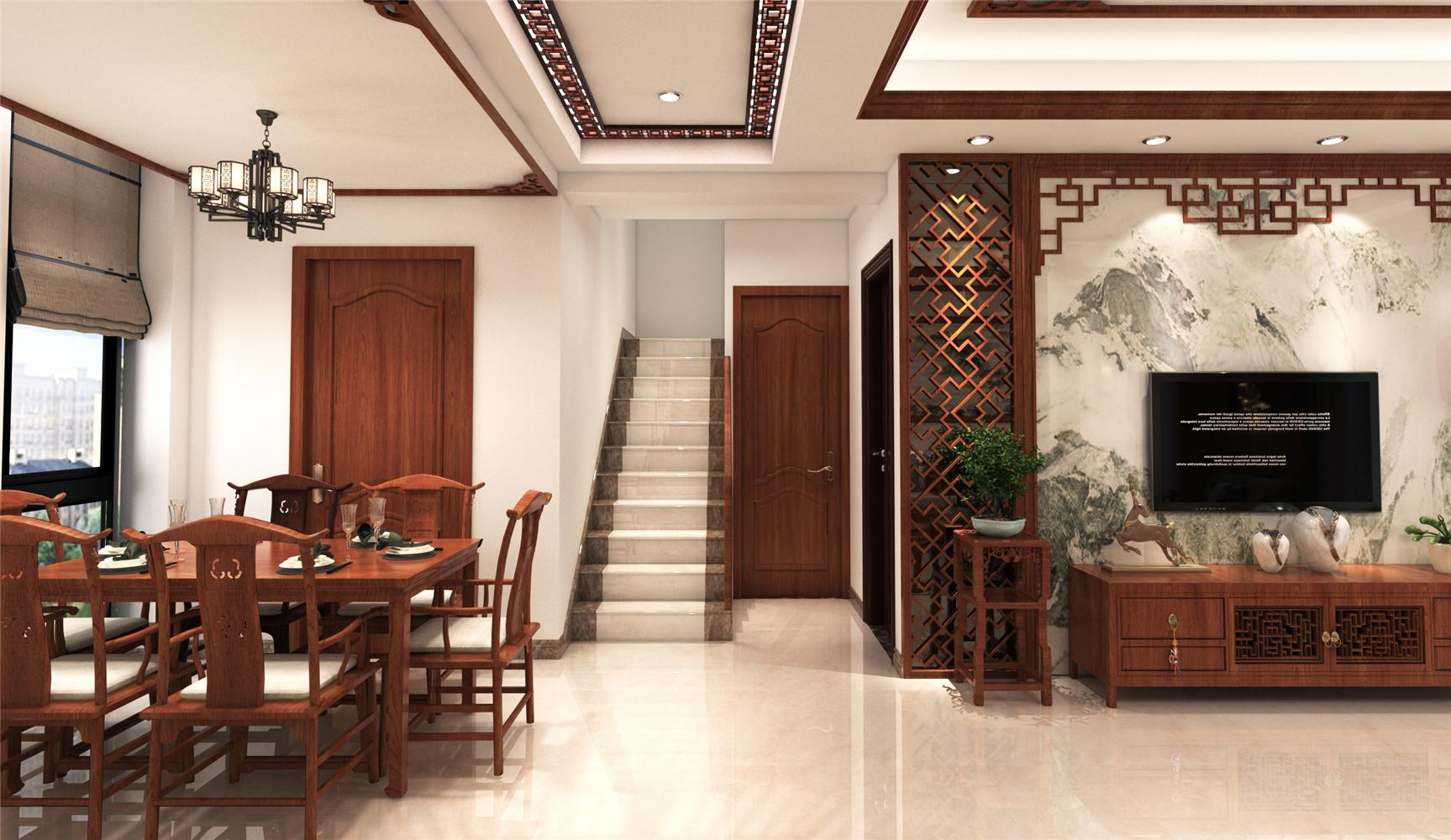 复式中式风格楼梯装修效果图