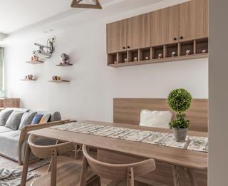 85㎡两居室餐厅装修效果图