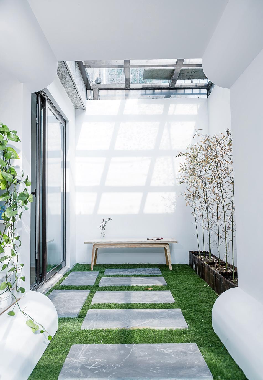 180㎡新中式风格花园装修效果图