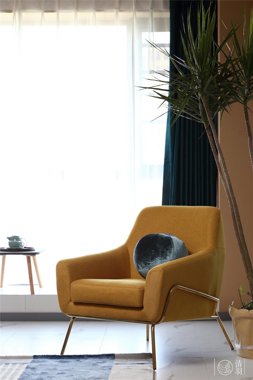 80㎡混搭风格装修沙发椅设计图