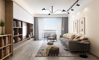 日式风格三居装修效果图
