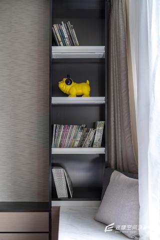 大户型现代简约装修书柜设计图