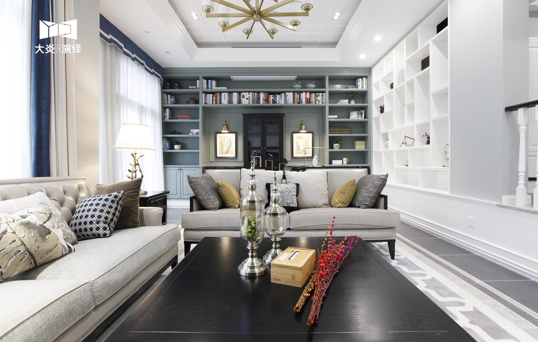 大户型简美风格客厅装修效果图
