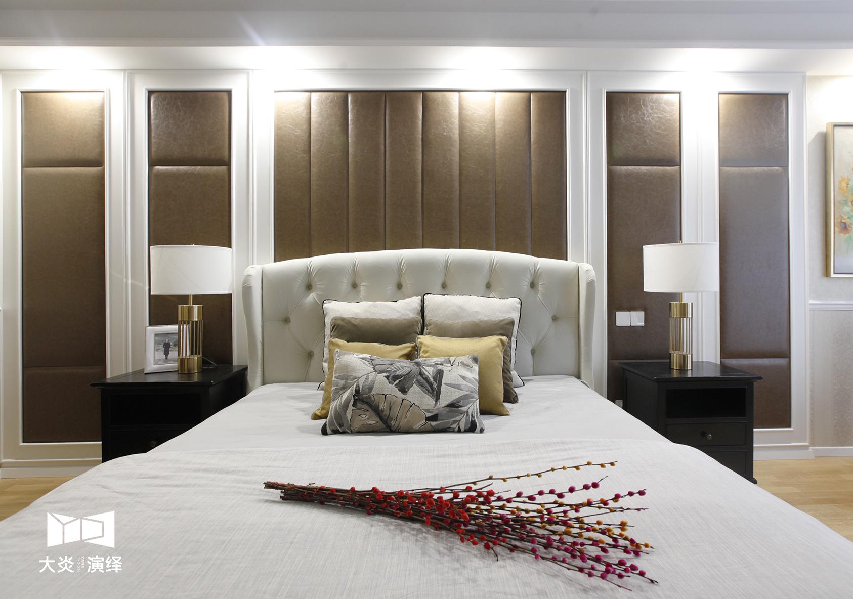 大户型简美风格床头背景墙装修效果图