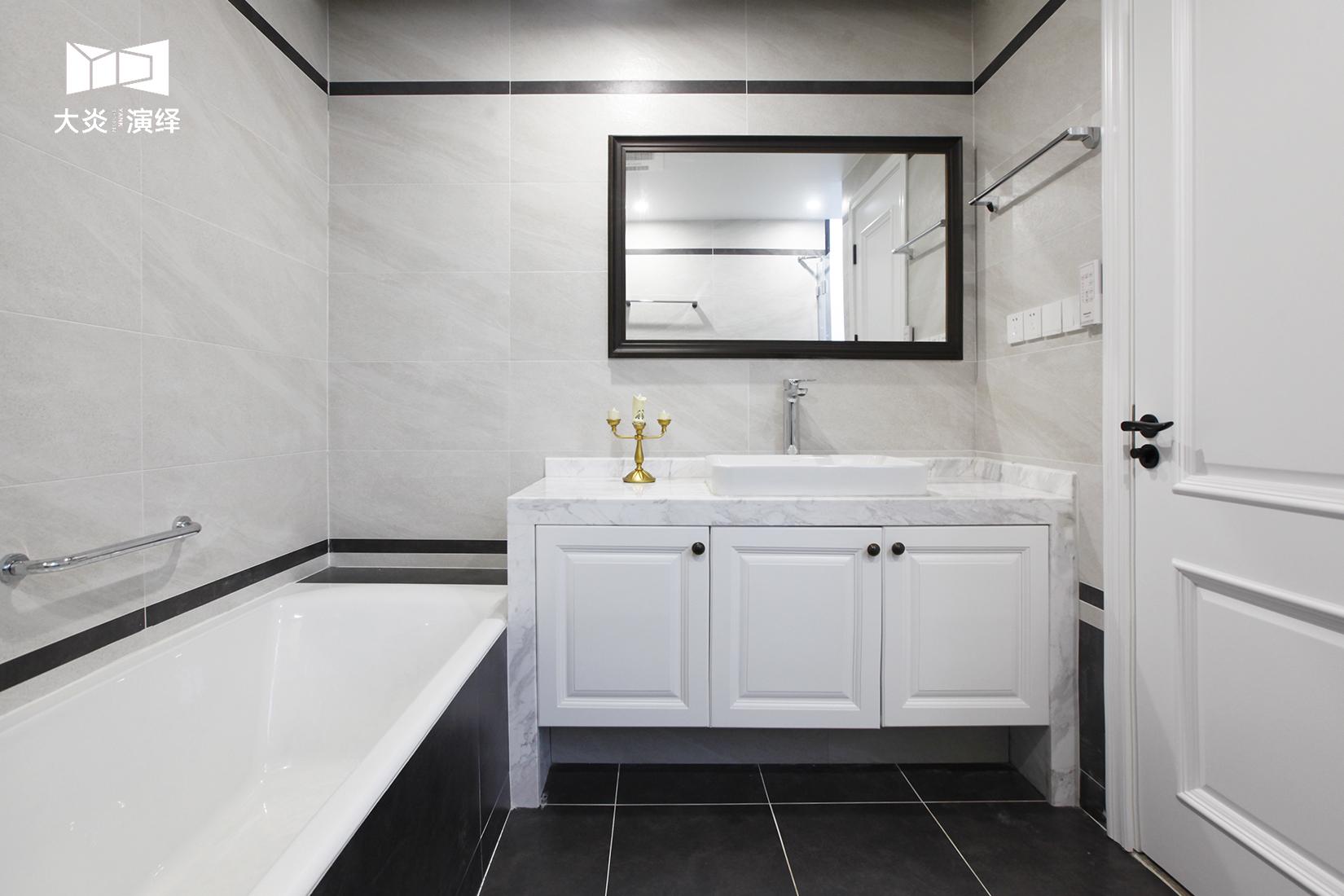 大户型简美风格卫生间装修效果图