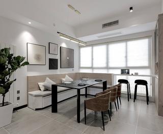 110㎡现代两居室餐厅装修效果图