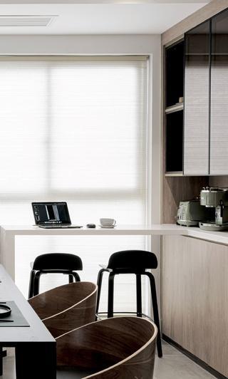 110㎡现代两居室吧台装修效果图